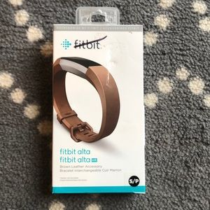 (Fitbit) Alta Brown Leather Accessory Band NWT!